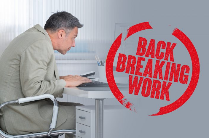 Back breaking seated position